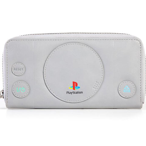 PlayStation One (PSOne) Zip around Clutch Wallet | Happy Piranha