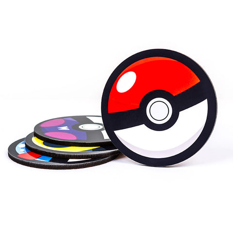 Pokemon Pokeball Coaster - Cool  Gamer & Geeky  Gifts