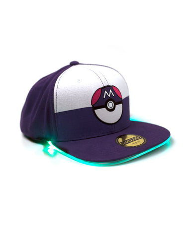 Pokemon Master Ball LED Light Up Snapback Cap | Happy Piranha