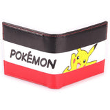 Pikachu Stripe Bifold Pokemon Wallet Exterior Design | Happy Piranha