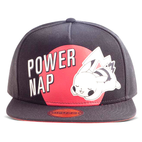 Power Nap Pikachu Pokemon Snapback Cap | Happy Piranha