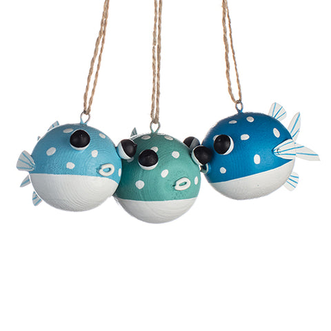 Puffed Pufferfish Hanging Decoration