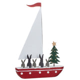 Rabbits on a Boat: Christmas Decoration | Happy Piranha