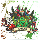 Dungeons and Dragons (DnD) Class Coaster (Ranger)  | Happy Piranha