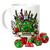 Dungeons and Dragons (DnD) Customisable Class (Ranger) Dice Mug | Happy Piranha