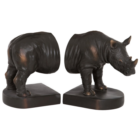 Polyresin Rhino Bookends | Happy Piranha