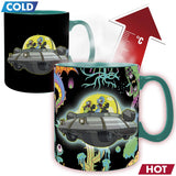 Rick and Morty Spaceship Heat Change Mug | Happy Piranha