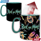 Rick and Morty Spaceship Heat Change Mug front design | Happy Piranha