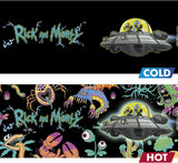 Rick and Morty Spaceship Heat Change Mug hot and cold designs | Happy Piranha