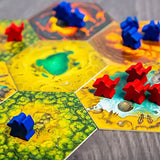 Rise of Tribes Board Game tiles and meeples | Happy Piranha