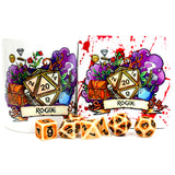 Dungeons and Dragons (DnD) Class Mug + Coaster (Rogue)  | Happy Piranha