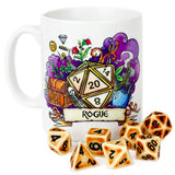 Dungeons and Dragons (DnD) Customisable Class (Rogue) Dice Mug | Happy Piranha