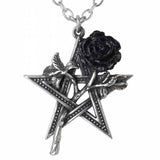 Ruah Vered: Pentagram and Black Rose Pewter Pendant | Happy Piranha