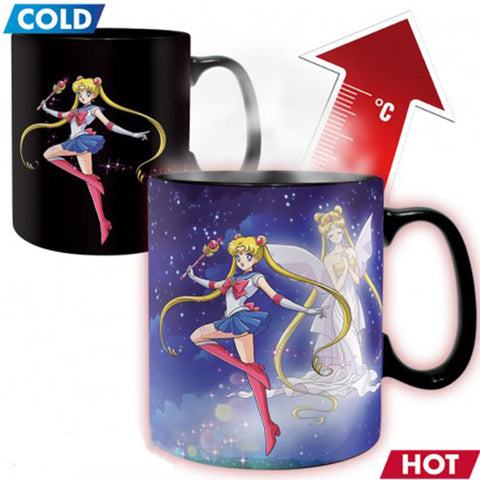 Sailor Moon - Princess Serenity Heat Change Mug Front Design | Happy Piranha