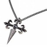 Santiago Cross Pewter and Haematite Pendant On Chain | Happy Piranha