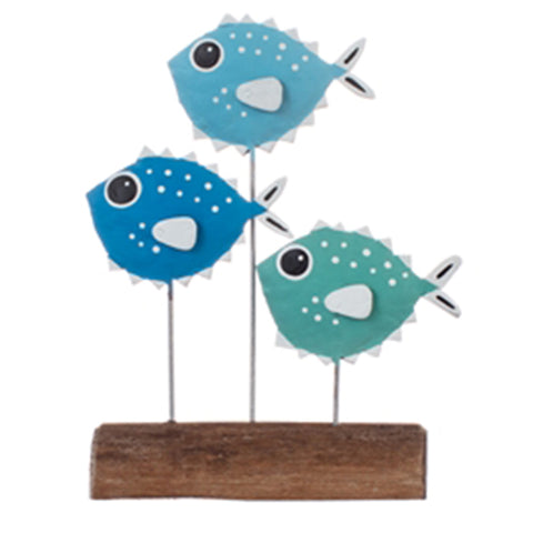 Pufferfish Shoal Ornament (Blue) | Happy Piranha
