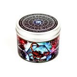 Scorpio zodiac star sign scented candle by Happy Piranha.
