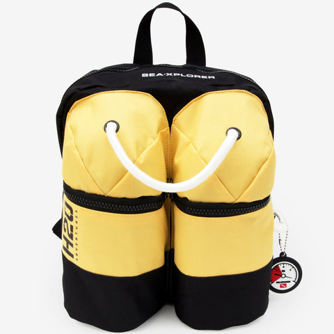 Scuba Backpack: Scuba Diving Tank Shaped Rucksack Front Design | Happy Piranha