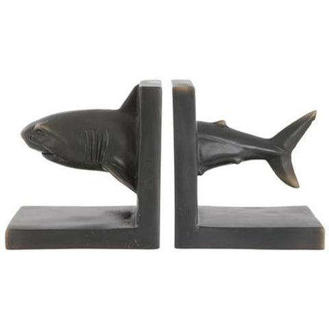 Shark Bookends | Happy Piranha