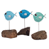 Single Pufferfish Metal Ornament | Happy Piranha