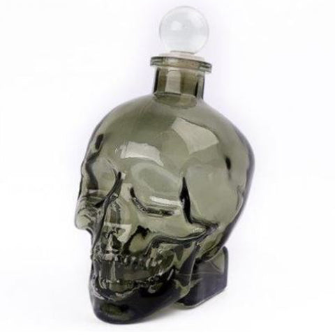 Glass Skull Decanter | Happy Piranha