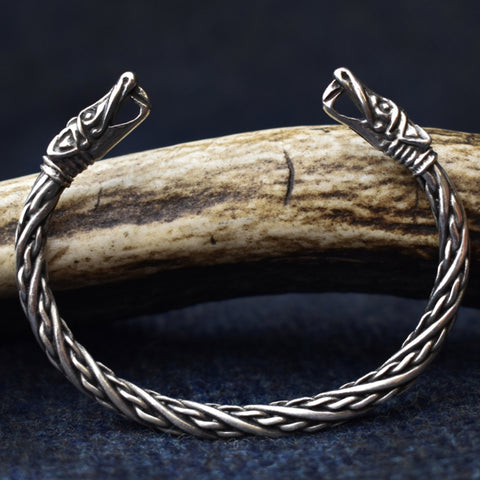 Small Dragon: Pewter Viking Bracelet | Happy Piranha