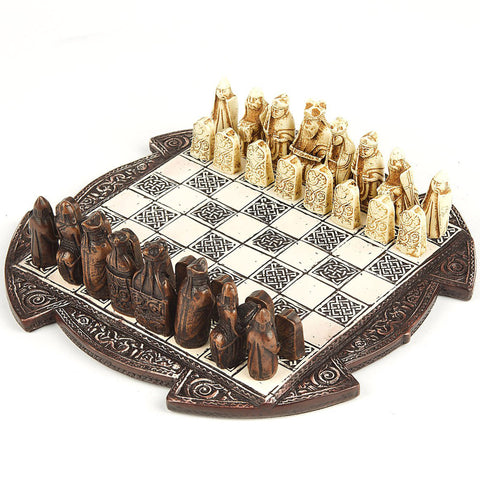 The Lewis Chessmen: Historical Chess Set and Board (Small) | Happy Piranha