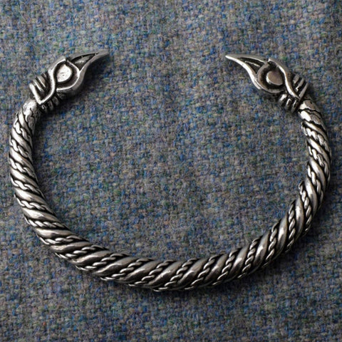 Odin's Ravens: Small Pewter Viking Bracelet | Happy Piranha