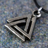 Small Valknut Pewter Viking Pendant | Happy Piranha
