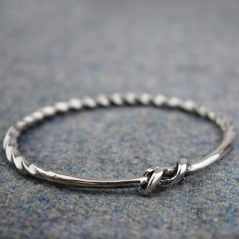 Small Viking Twist Pewter Bracelet | Happy Piranha