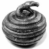 Snake Pot: Coiled Snake Storage Jar Top View | Happy Piranha