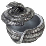 Snake Pot: Coiled Snake Storage Jar With Lid Ajar | Happy Piranha