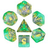 Snow Globe Poly Dice Sets - Morning Dew (Green) | Happy Piranha