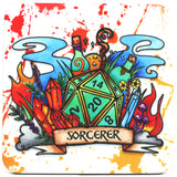 Dungeons and Dragons (DnD) Class Coaster (Sorcerer)  | Happy Piranha