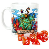 Dungeons and Dragons (DnD) Customisable Class (Sorcerer) Dice Mug | Happy Piranha