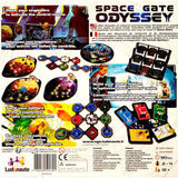 Space Gate Odyssey Board Game Back of Box | Happy Piranha