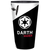 Large Star Wars Darth Vader Glass Back Design With the Empire Logo | Happy Piranha