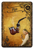 Steampunk Tea Leaf Fortune Telling Cards Pipe Card | Happy Piranha