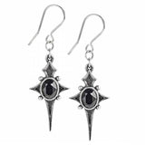 Sterne Leben: Gothic Pewter and Swarovski Crystal Dropper Earrings | Happy Piranha