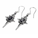 Sterne Leben: Gothic Pewter and Swarovski Crystal Dropper Earrings Back Design | Happy Piranha