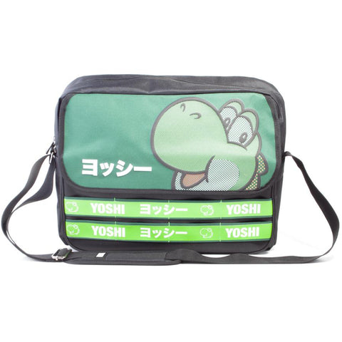 Super Mario Yoshi Taped Katakana Messenger Bag | Happy Piranha