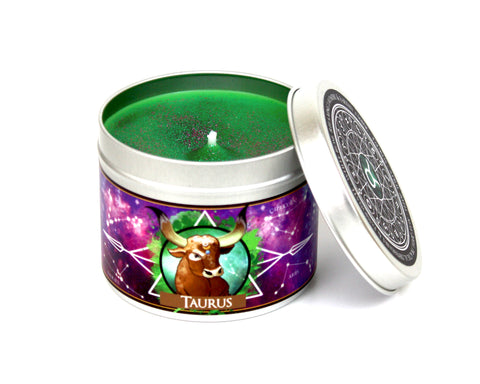 Taurus the bull scented zodiac candle