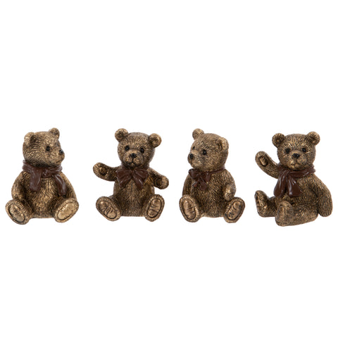 Teddy Bear Ornaments 4 Set | Happy Piranha