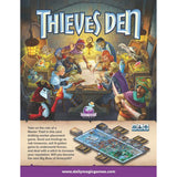 Thieves Den Board Game Back of Box | Happy Piranha