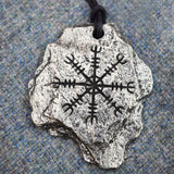 The Helm of Awe Pewter Viking Pendant | Happy Piranha