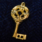 Viking Period Gold Plated Pewter Key Pendant | Happy Piranha