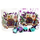 Dungeons and Dragons (DnD) Class Mug + Coaster (Warlock)  | Happy Piranha