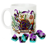 Dungeons and Dragons (DnD) Customisable Class (Warlock) Dice Mug | Happy Piranha