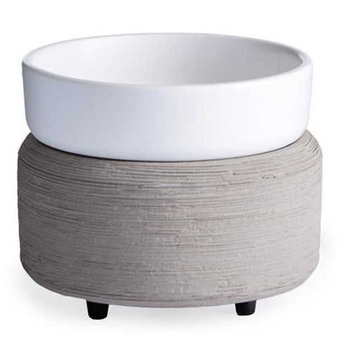 Gray (Grey) Textured: 2-in-1 Electric Wax Melt and Candle Warmer | Happy Piranha