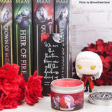 ACOTAR inspired wing leader, Manon Blackbeak scented candle.